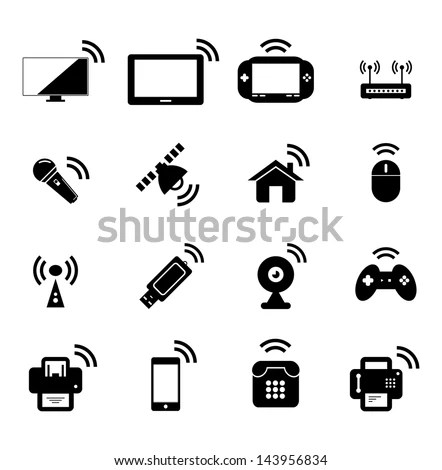 Simple Internet Things Icon Set Symbols Stock Vector