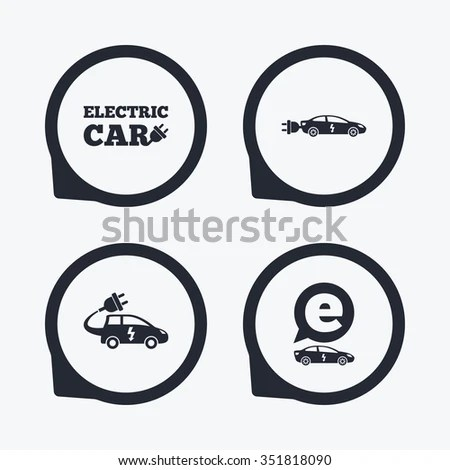 Vector Illustration Electric Vehicle Charger Station Stock