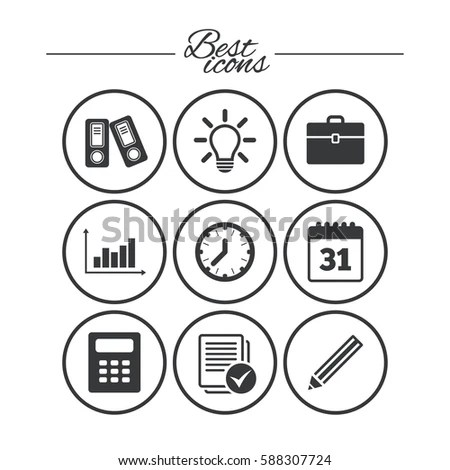 Office Documents Business Icons Accounting Calculator