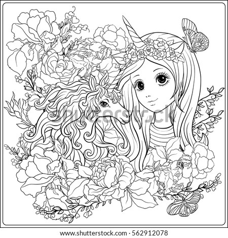 Coloring Unicorn Ornament Coloring Pages