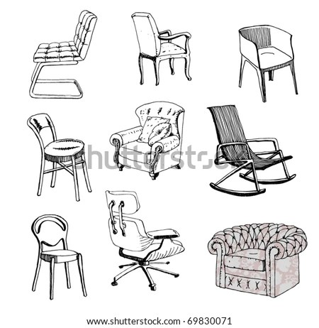Chair Sketch Stock Images, Royalty-Free Images & Vectors