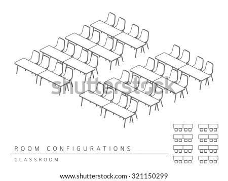 Meeting Room Setup Layout Configuration Classroom Stock