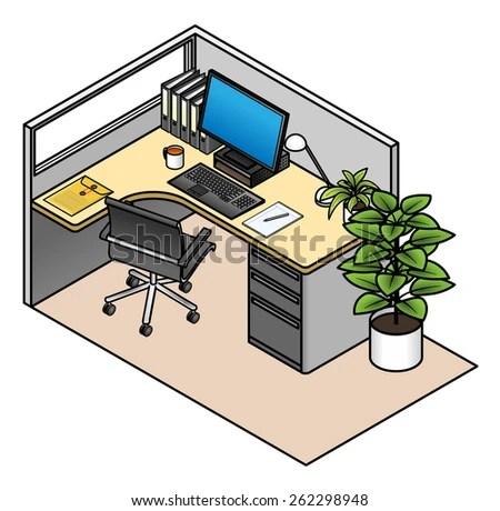 cubicles stock vectors & vector