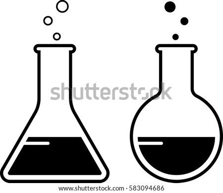 Laboratory Glass Beaker Icon Vector Illustration Stock