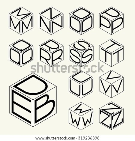 3d Icon Set Vector Illustration Abstract Stock Vector