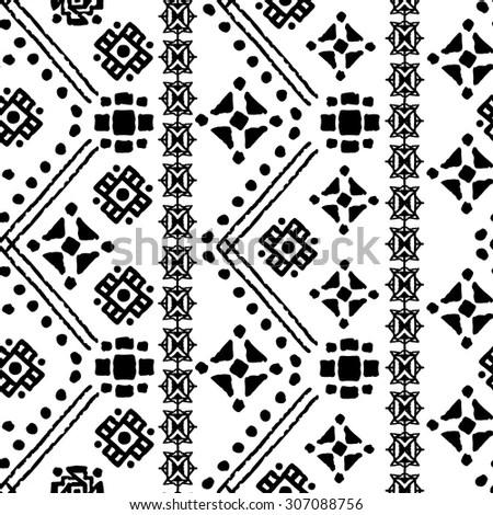 Ethnic Boho Seamless Pattern Tribal Art Stock Vector