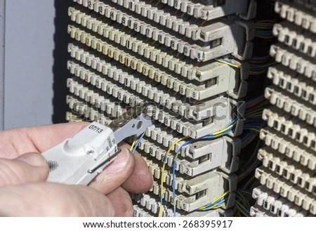 110 Block Wiring Diagram 25 Pair Punchdown Stock Images Royalty Free Images Amp Vectors