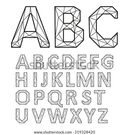 Poster Tattoo Style Font Rounded Corners Vectores En Stock