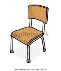 Classroom Chair Cartoon Vector Illustration Black Stock ...