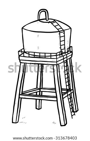 Cartoon Water Tank Stock Images, Royalty-Free Images