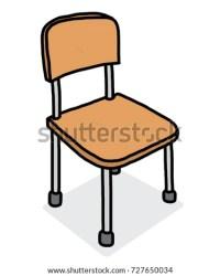 Office Chair Cartoon Vector Illustration Black Stock ...