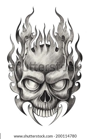 Skull Tattoo Stock Photos Images  Pictures  Shutterstock