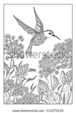 Coloring Book Page Coloring Adults Children Stock