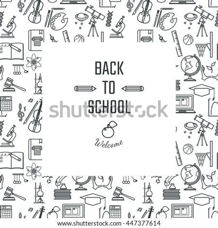 Vector Illustration Teachers Day Holidays Design Stock