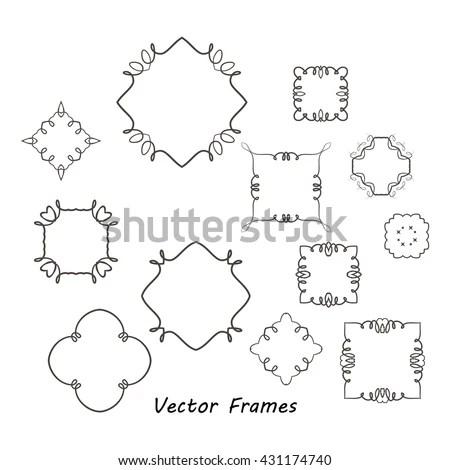 Preschool Worksheet Trace Shapes Color Basic Stock Vector