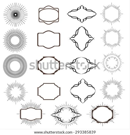 Art Deco Vintage Sun Burst Frames Stock Vector 293385839