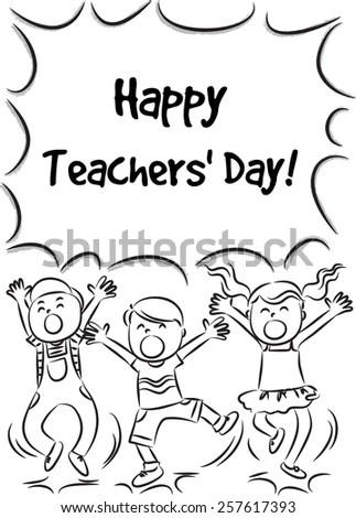 Happy Teachers Day Stock Vector (Royalty Free) 257617393