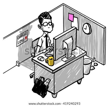 cubicle stock royalty-free