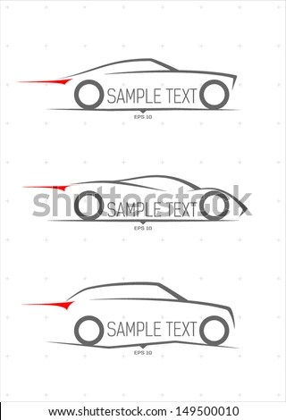 Car Outline Stock Photos, Royalty-Free Images & Vectors