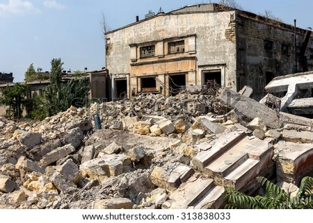 landscape ruins industrial