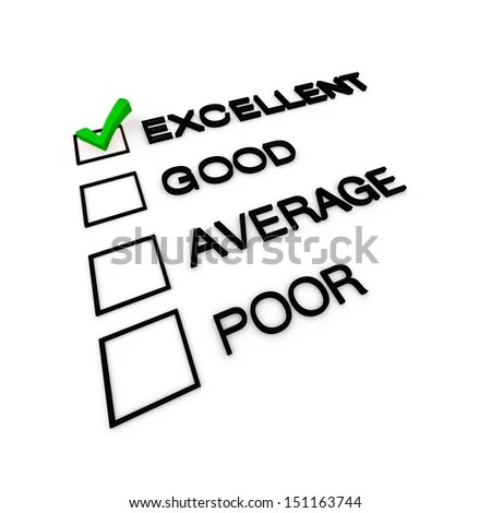 Evaluation Job Performance Grade Report Card Stock