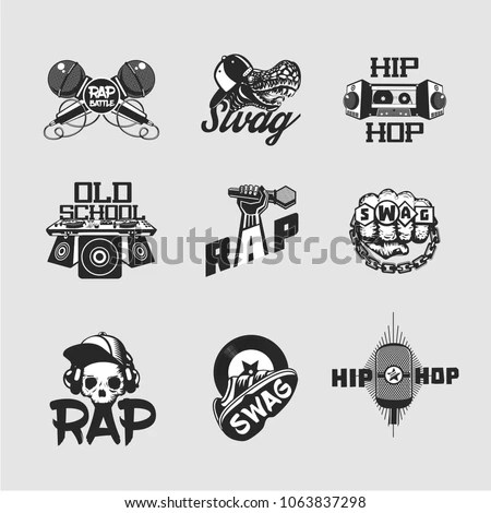 Hip Hop Logo Stock Images, Royalty-Free Images & Vectors