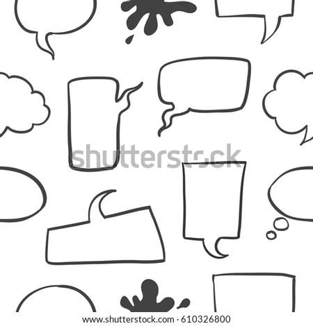 Hand Drawn Flow Chart Elements Set Stock Vector 392081905