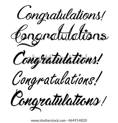 Congratulations Word Stock Images, Royalty-Free Images