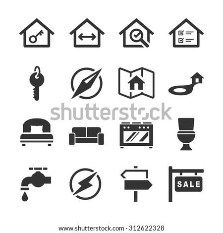 Toilet Public Sign Symbol Icon Pictogram Stock