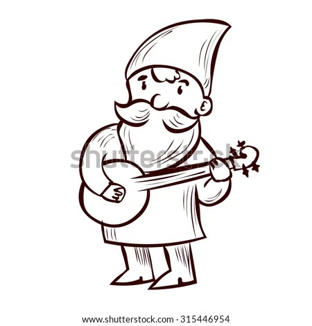 Cute Gnome Woodcutter Ax Character Stock Vector 741840202