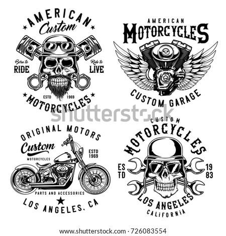 Vector Illustration Motorcycle Typography Tshirt Graphics