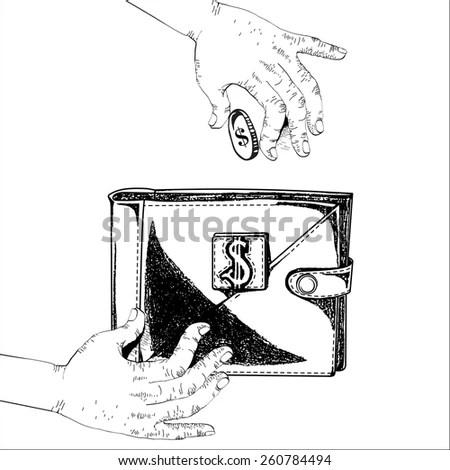 Pile Money Coins Capital How Earn Stock Vector 234154297