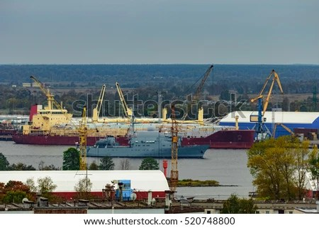Big Cargo Ship Loaded Coal By Stock Photo 598591160