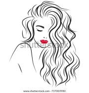 beautiful girl long curly hair