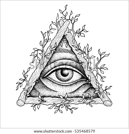 Eye Providence Masonic Symbol All Seeing Stock Vector