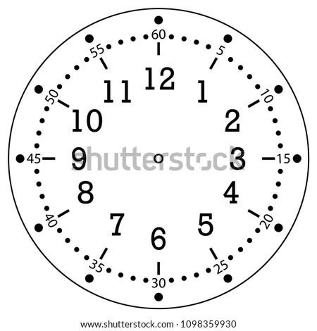 Clock Face House Alarm Table Kitchen Stock Vector