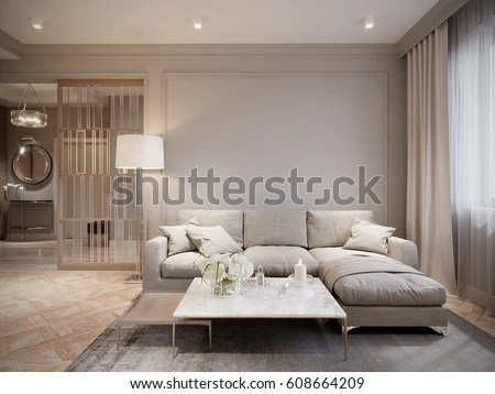 images of living rooms with gray couches room flooring modern beige interior stock illustration ...