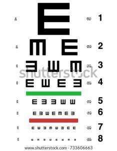 Vector eye test chart visual acuity  also stock royalty free rh shutterstock