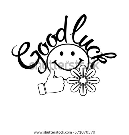 Good Luck Isolated Lettering Vector Card Stock Vector