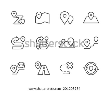 Vector Icons Pack Blue Series Maps Stock Vector 159782780