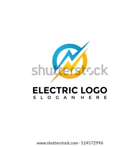 Electric Logo Template Vector Illustration Eps10 Stock