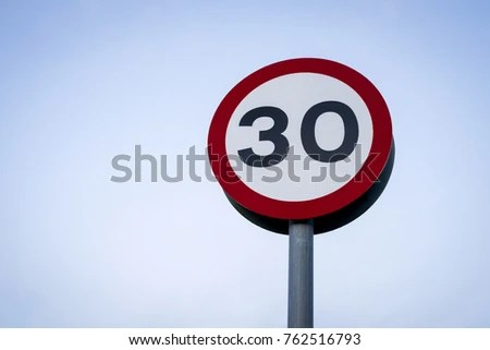 30 Miles Per Hour Zone Stock Images Royalty-Free Images ...