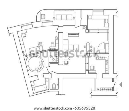 Sketch Hydraulic Piston Pump Part Eps Stock Vector