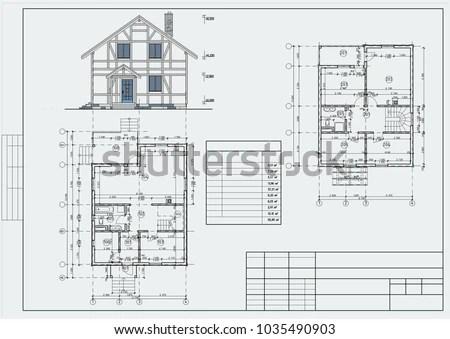 Authors Design Residental House Brick Halftimbered Stock