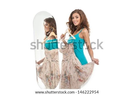 Full Length Mirror Stock Photos Images Amp Pictures