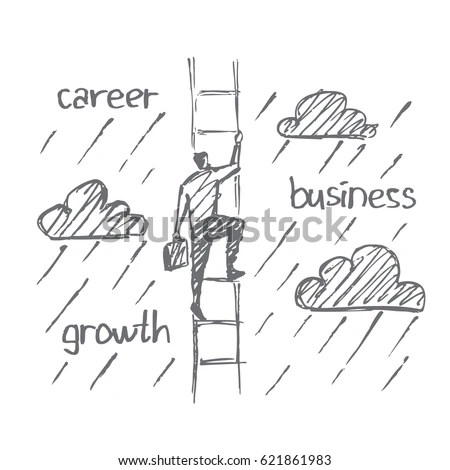 Man On Ladder Stock Images, Royalty-Free Images & Vectors