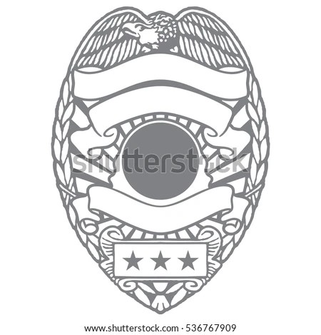 Police Officer Sheriff Department Badge Eagle Stock Vector