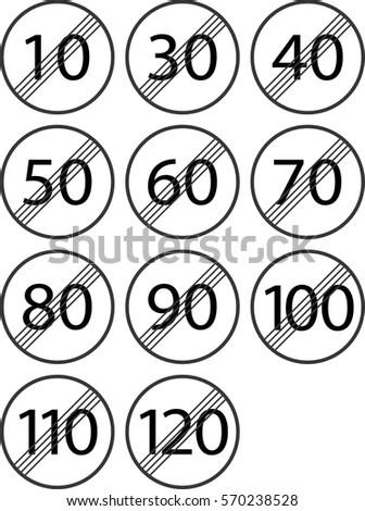 Alphabet Letters Logos Needle Thread Font Stock Vector