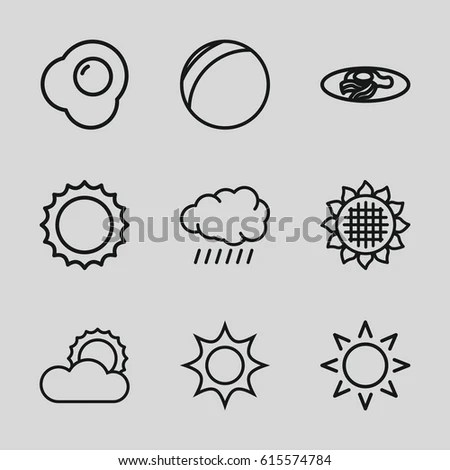 Vector Linear Web Icons Set Space Stock Vector 297943106