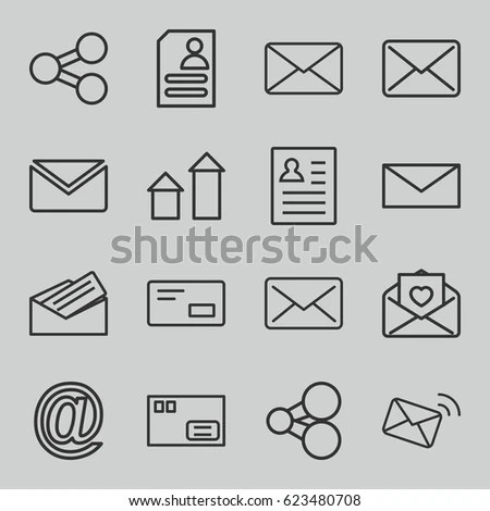 Set Email Icons Graphics Web Icon Stock Vector 75996478